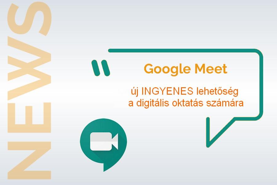 online oktatás ingyenes a google meet